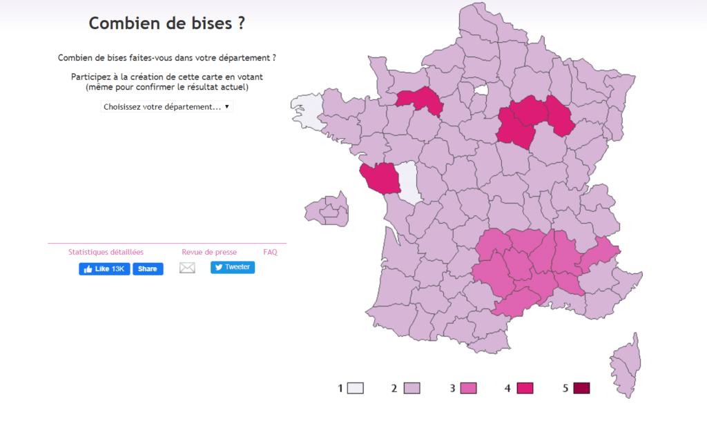 tradiciones franceses cuántos besos se dan en francia