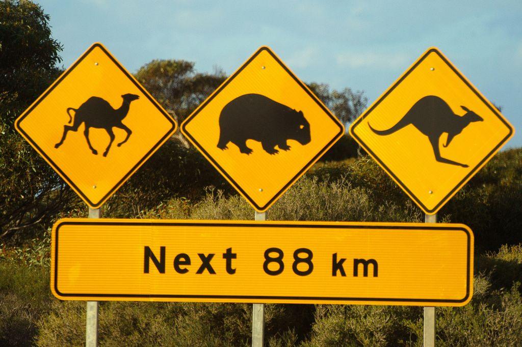 señales tráfico Australia