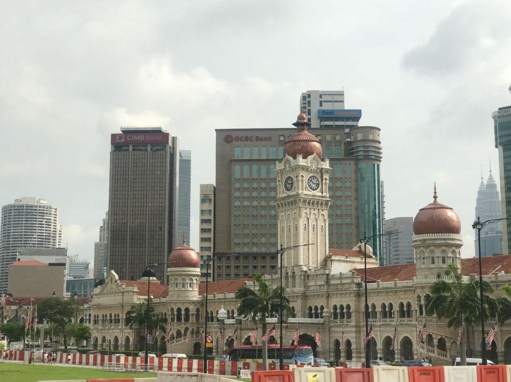 Vistas de la plaza Merdeka en Malasia