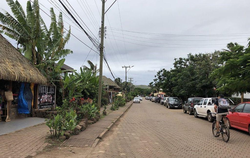 Calles de Hanga Roa en la Isla de Pascua