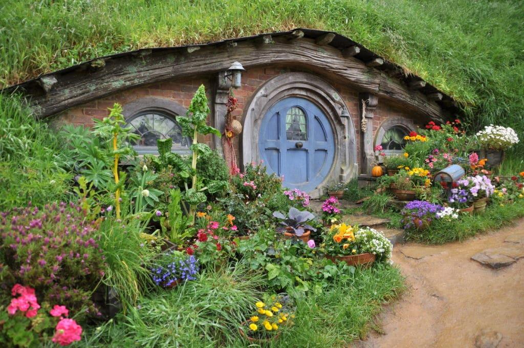 Casa de hobbiton en Nueva Zelanda
