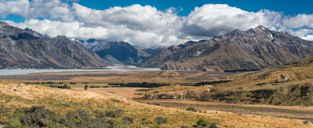 Las llanuras del monte Sunday en Nueva Zelanda