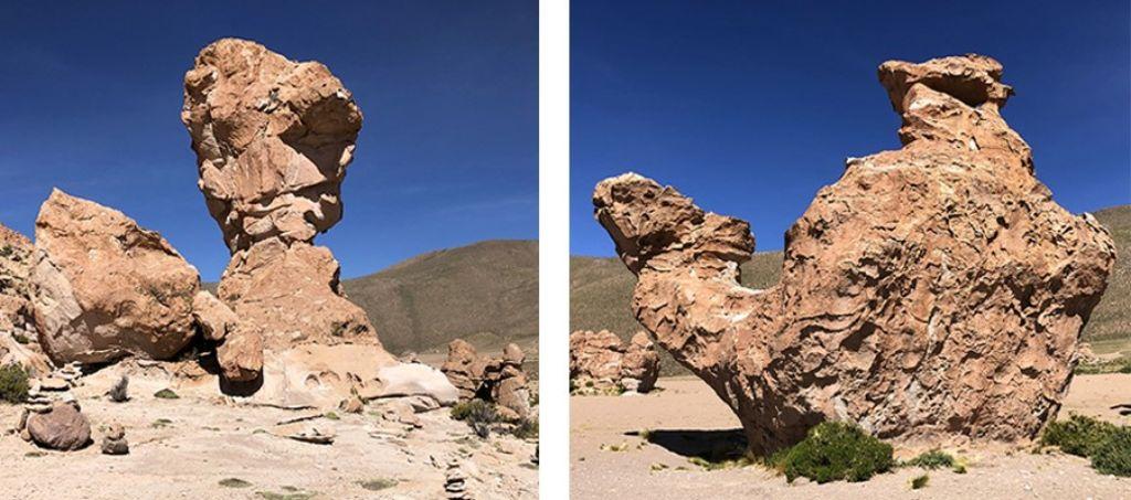 Formaciones rocosas del Salar de Uyini Bolivia