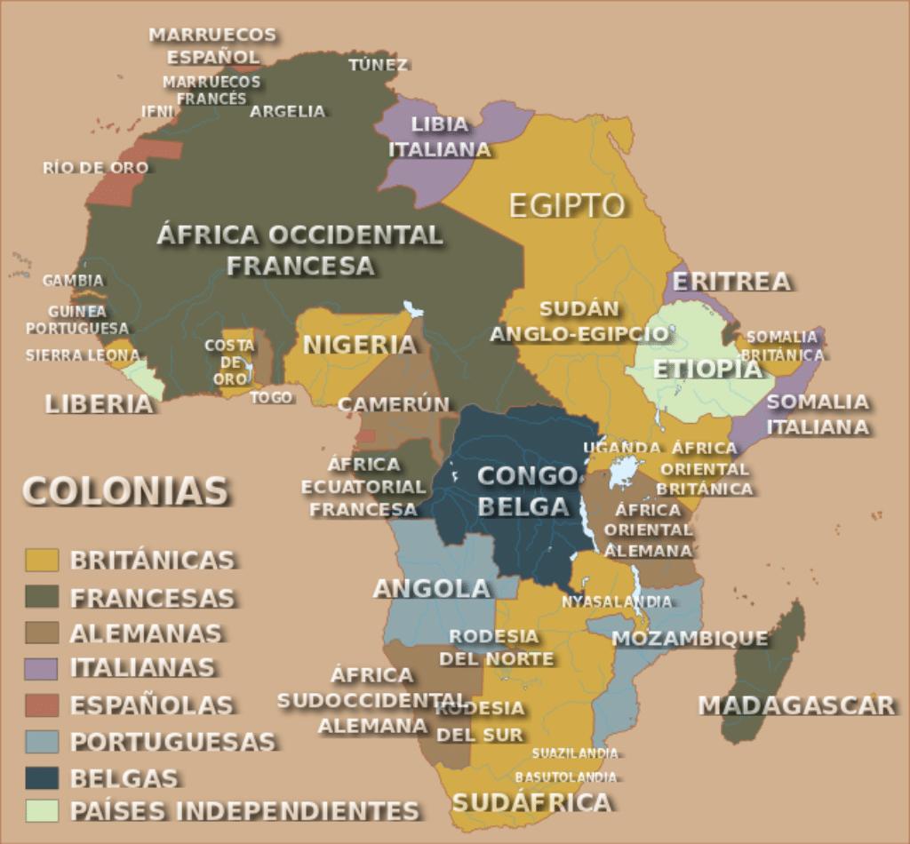 África tras la Conferencia de Berlín, Wikipedia.