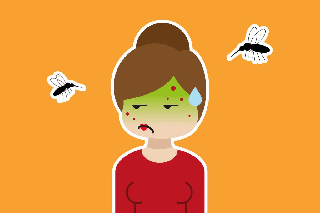chica con picadura de mosquito