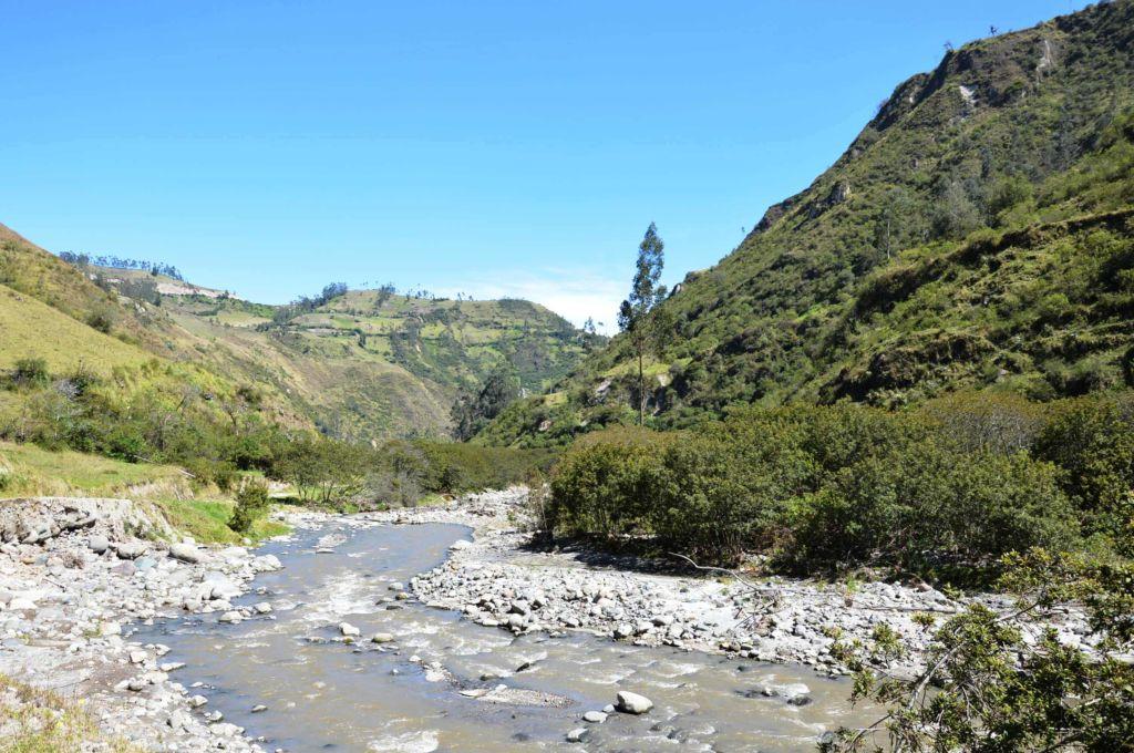 Rio Toachi cerca de Sigchos Quilotoa Ecuador