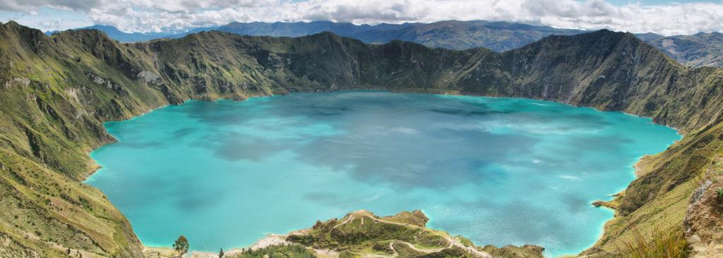 vistas desde la cima del Quilotoa Ecuador