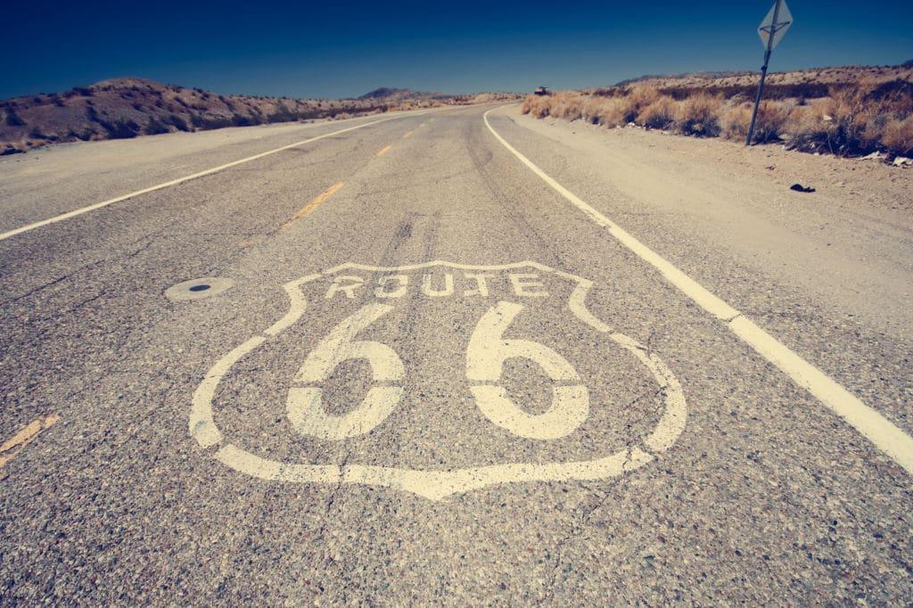Carretera de la Ruta 66 en Estados Unidos documentos carnet de conducir Estados Unidos