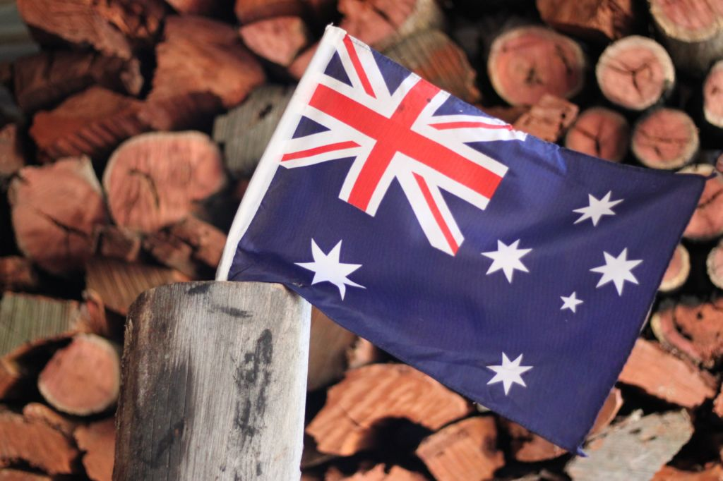 visado australia bandera