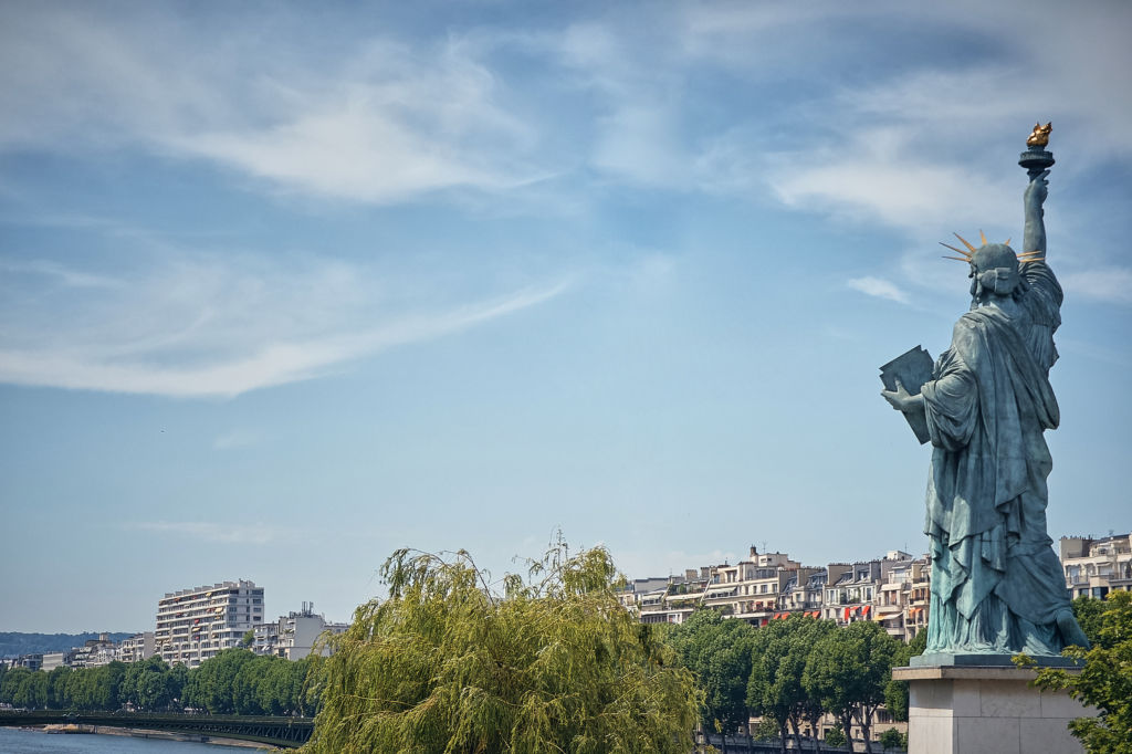 réplica monumentos estatua de la libertad