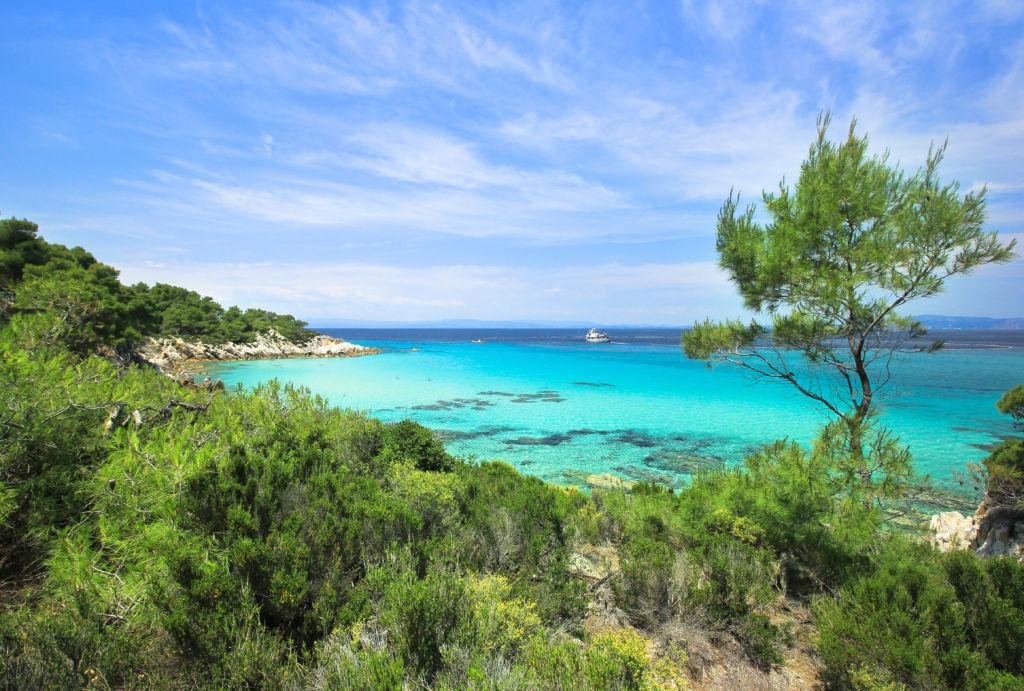 Halkidiki Sithonia grecia que ver agua turquesa