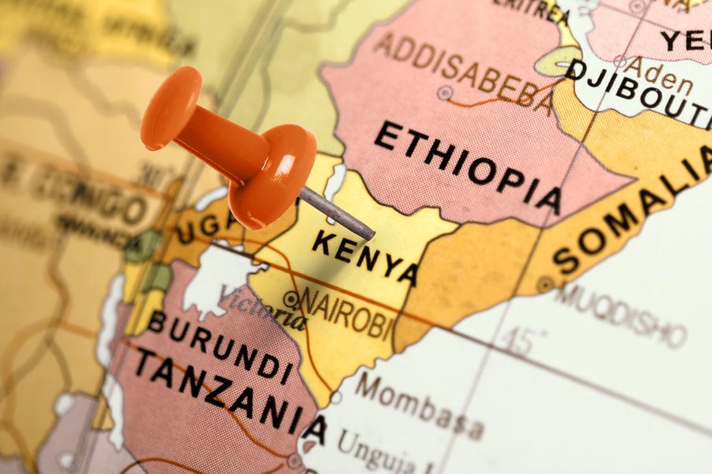 mapa kenia