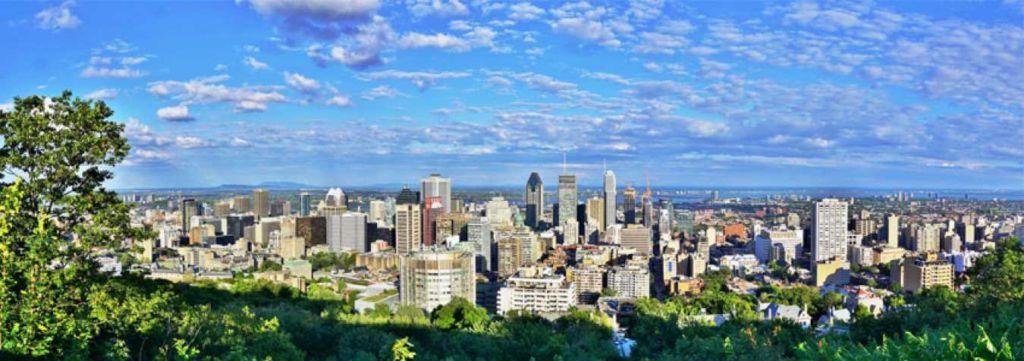 skyline montreal canadá
