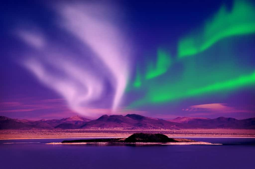 aurora boreal año nuevo canadá