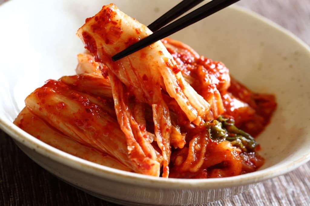 Kimchi plato típico corea del sur
