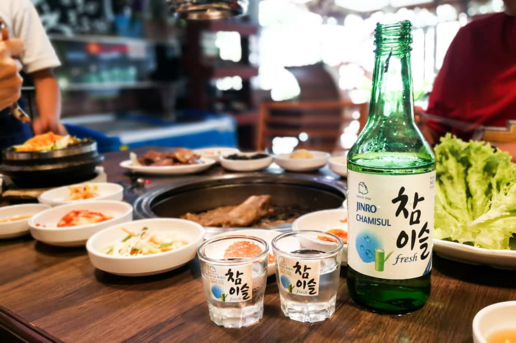 soju comida típica de Corea del Sur