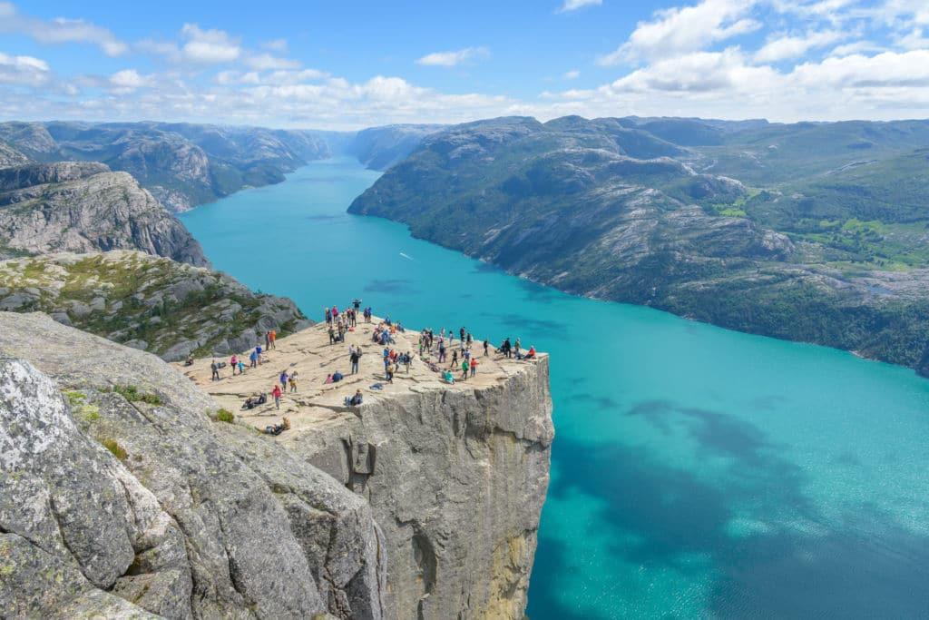 vistas desde el Preikestolen en Noruega