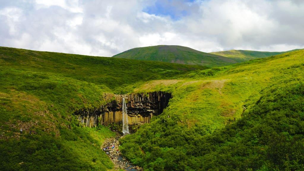 viajes de naturaleza Islandia Svartifoss.