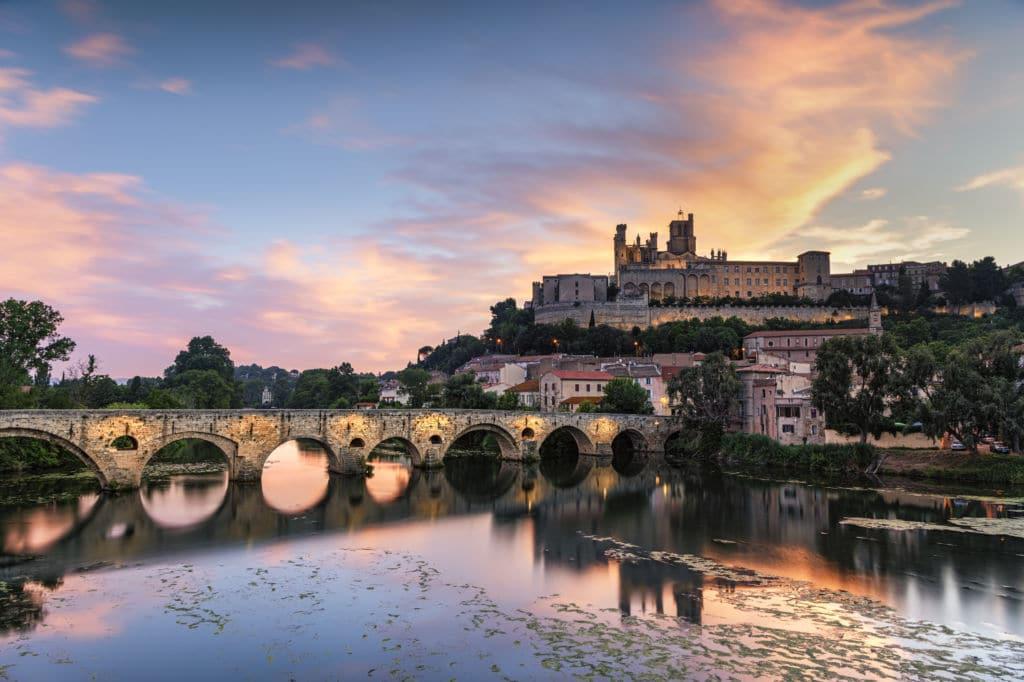 Bezier ciudad muy antigua en Francia
