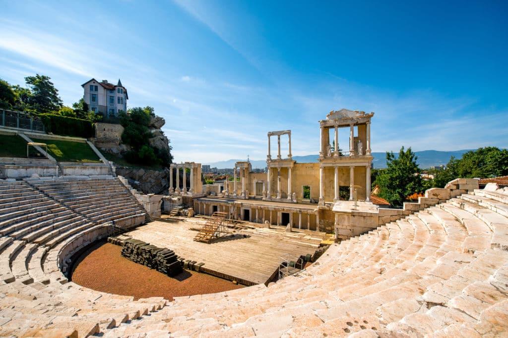 ciudades más antiguas de europa teatro romano de Plovdiv
