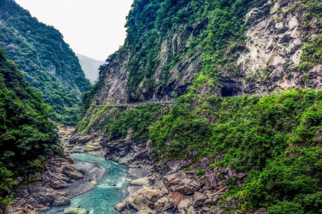 El Parque nacional de Shei-Pa Taiwán