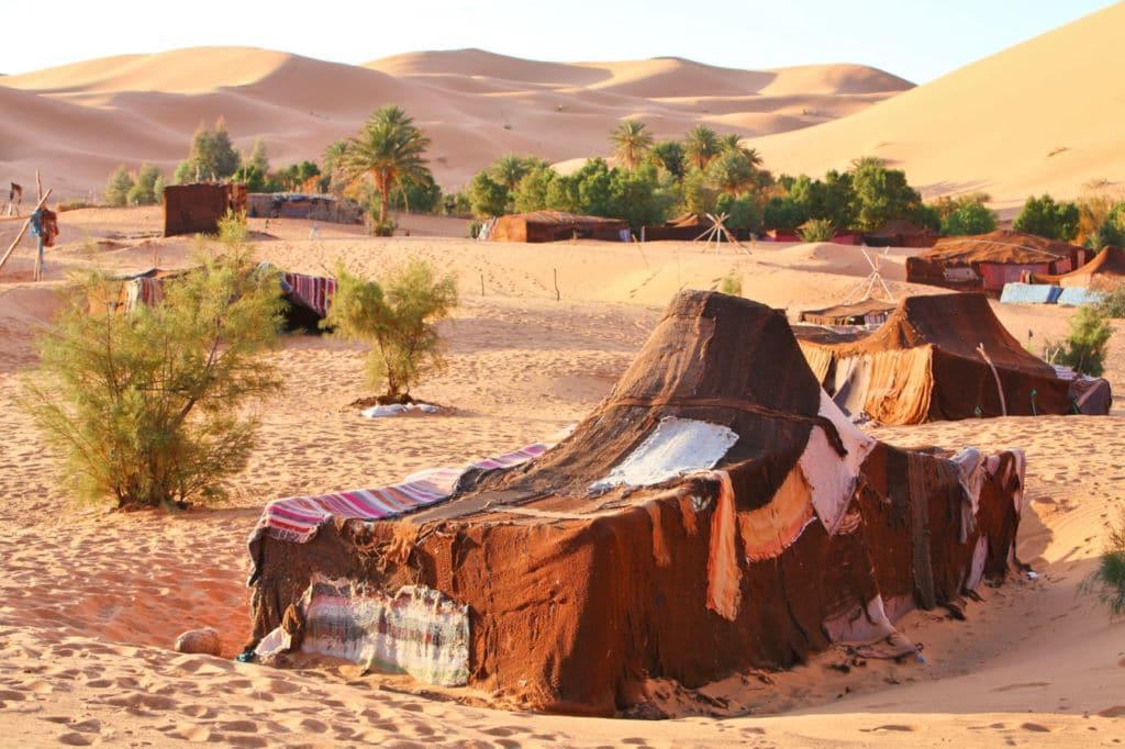 10 alojamientos insólitos en el mundo - una jaima en Marruecos