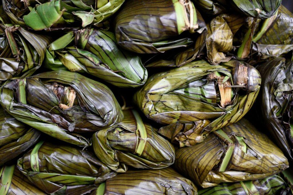 tamales platos típicos de Colombia