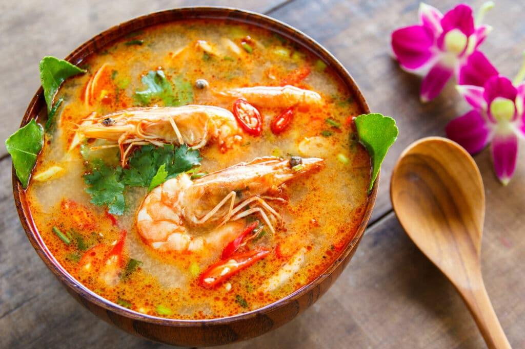 tom yam sopa tailandesa picante