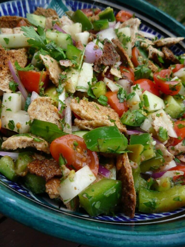 fattoush ensalada del Líbano