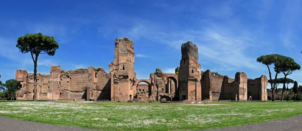 Las ruinas de las Termas de Caracalla usadas en los juegos olímpicos de Roma
