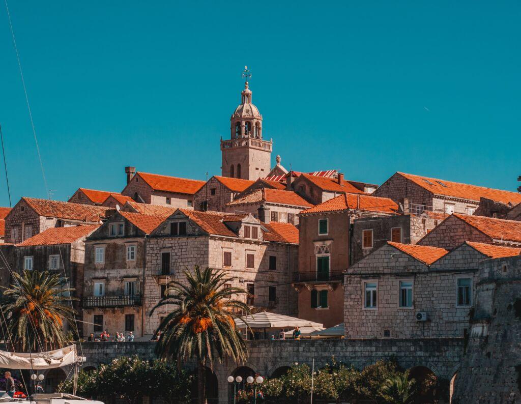 Korcula, pueblo cerca de Split en la Costa Dálmata Croacia