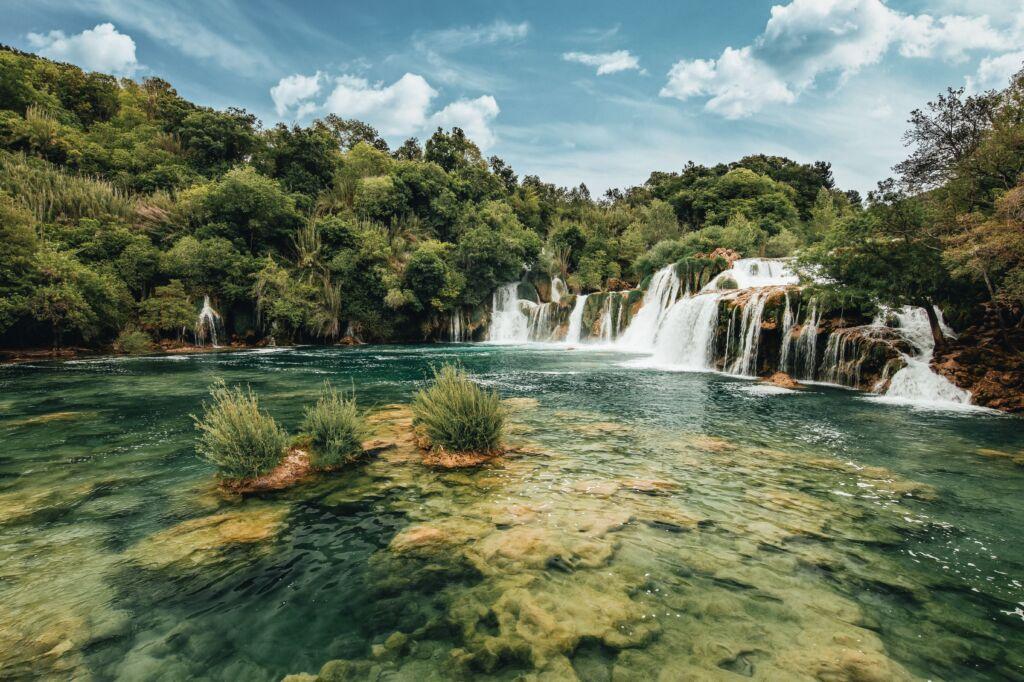 Krka, cataratas que ver en los alrededores de Split en Croacia