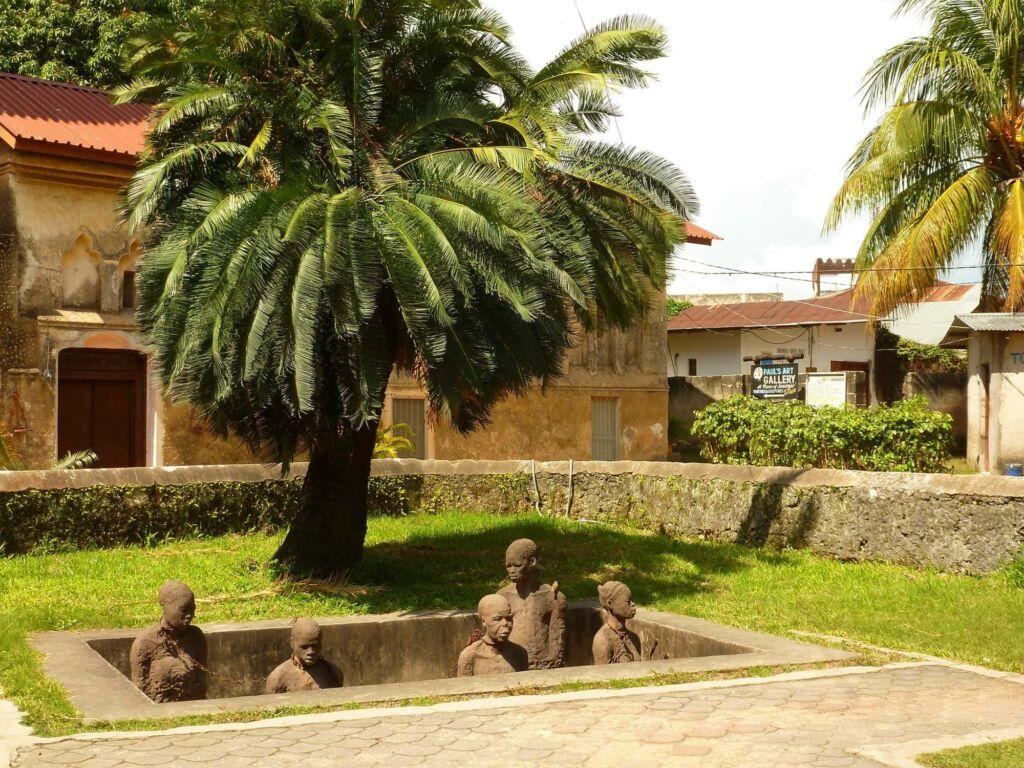 Stone Town Mercado esclavo en un viaje a Zanzíbar