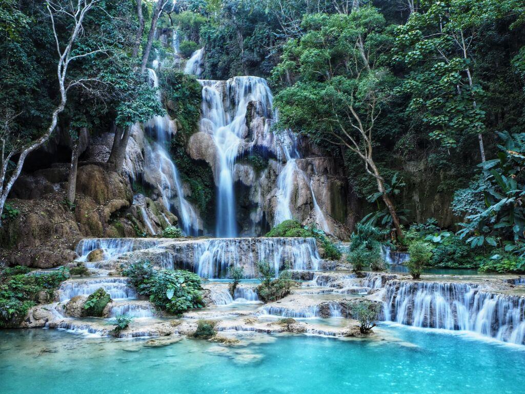 Kuang Falls waterfalls en Laos