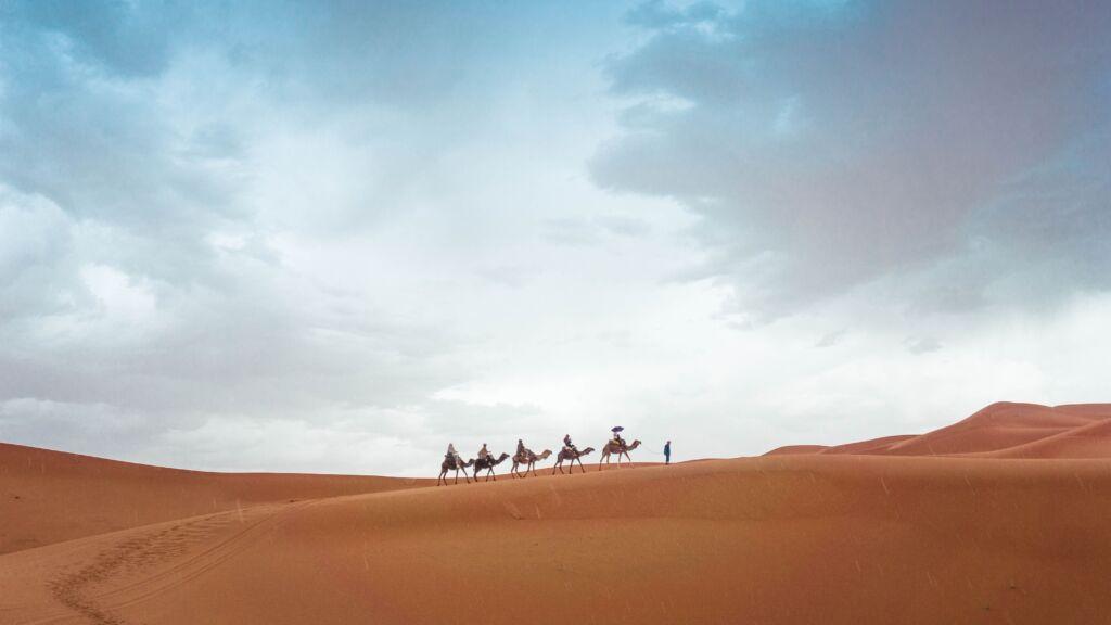 el desierto del Sahara en un viaje a Marruecos