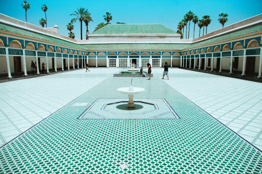 el palacio la Bahía es uno de los lugares que visitar en Marrakech