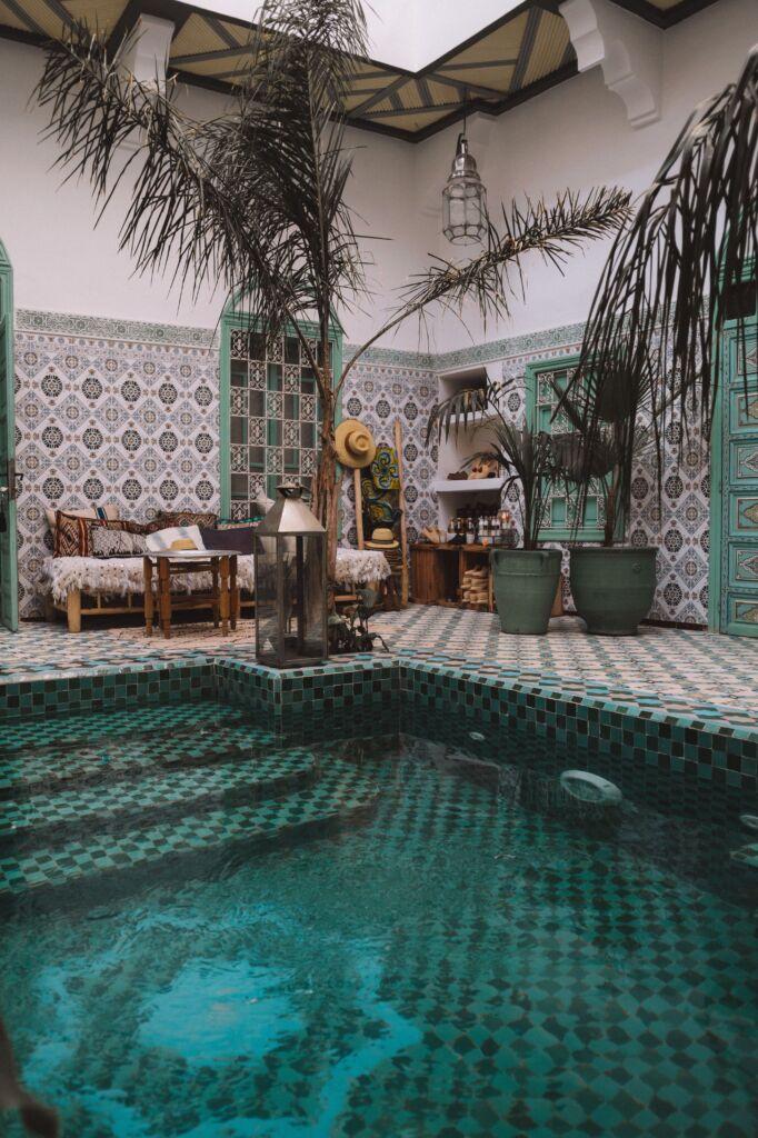 riad, alojamiento típico en Marrakech
