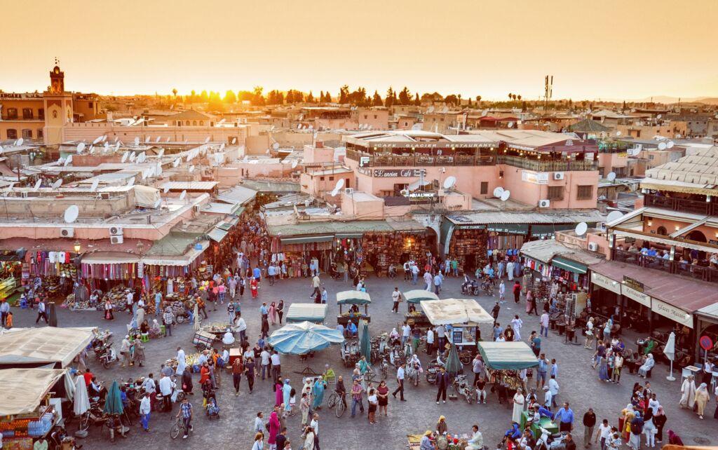 Yamaa el Fna, plaza de Marrakech muy famosa